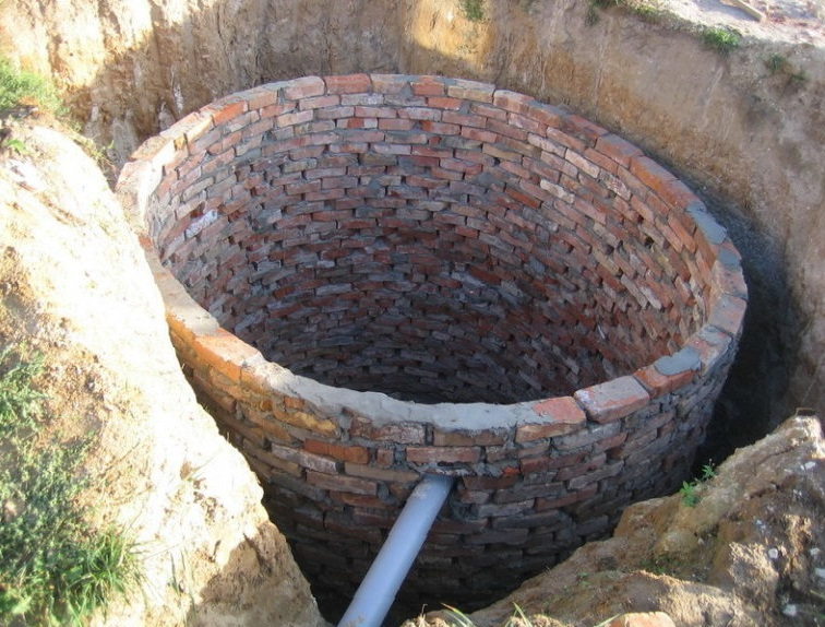 Выгребная яма из кирпича